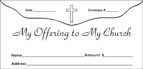 church offering envelopes
